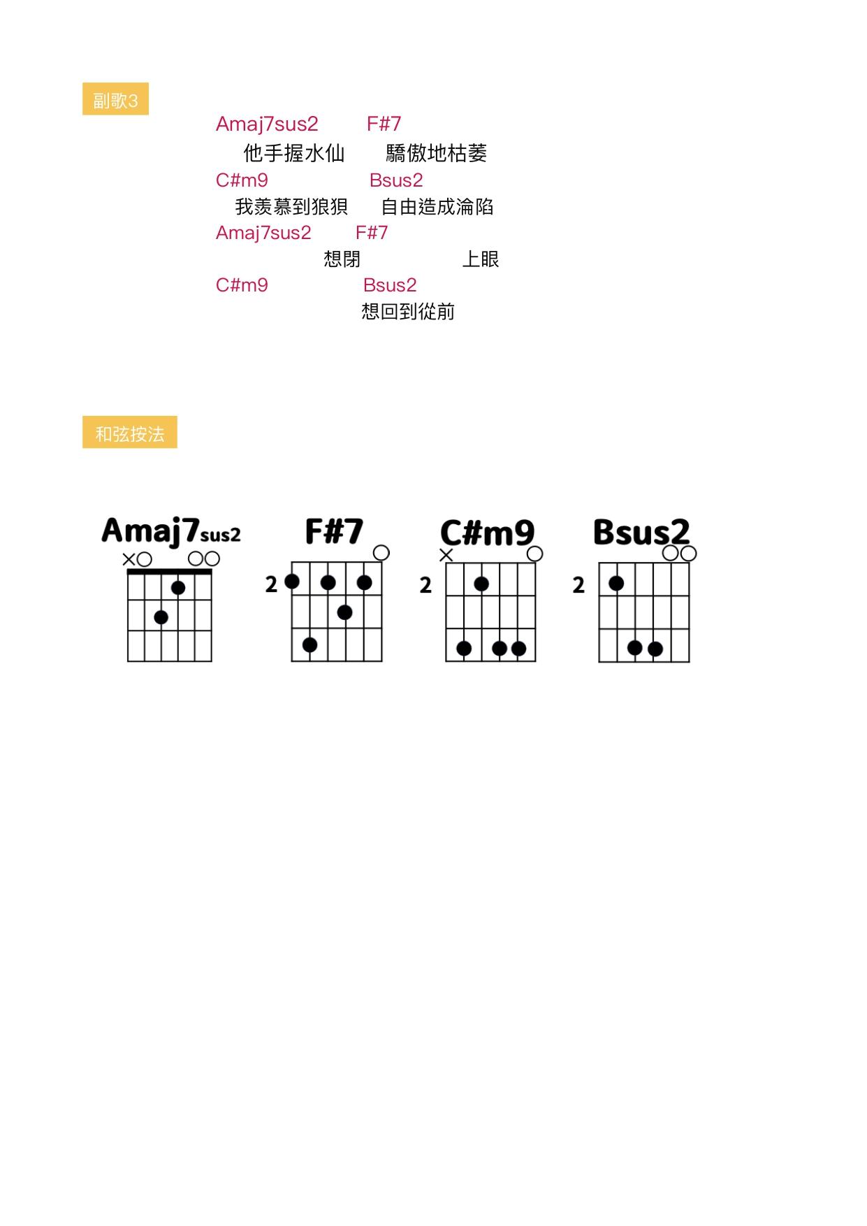 複寫 吉他 吉他譜
